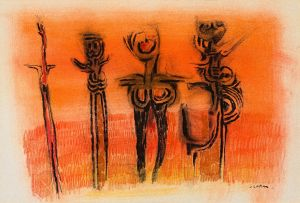 Cecil Skotnes; Four Figures