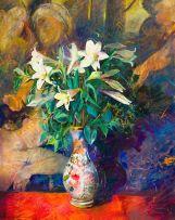 Louis van Heerden; Still Life with St Joseph Lilies