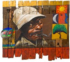 George Velaphi Mzimba; Man Smoking a Pipe