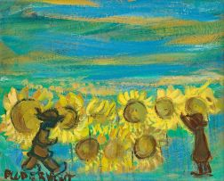 Frans Claerhout; Figures and Sunflowers