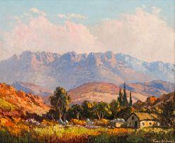 Tinus de Jongh; Cottage in a Valley