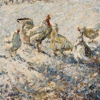 Harry Fidler; Rooster and Chickens