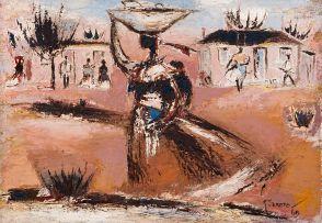 Gerard Sekoto; Woman Carrying Fruit