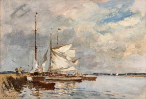 Edward Seago; Yachts on the Thurne, Norfolk