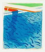 David Hockney; Pool Made with Paper and Blue Ink for Book, together with the accompanying book Paper Pools