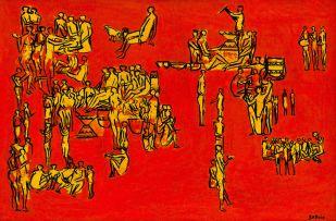 Walter Battiss; Yellow Figures