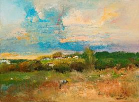 Errol Boyley; Landscape with Grazing Cattle