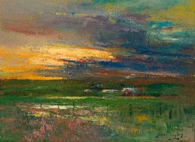 Errol Boyley; Marshland at Sunset
