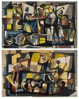 Armando Baldinelli; Figural Compositions, a pair