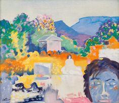 Walter Battiss; Swimming Pool, Calvinia