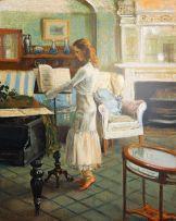 Marié Vermeulen-Breedt; Meisie met Bladmusiek, Melrose Huis