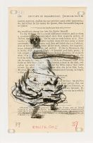 William Kentridge; Woman in Frilled Dress