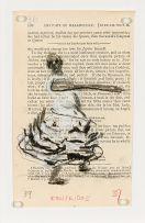 William Kentridge; Woman in Frilled Dress