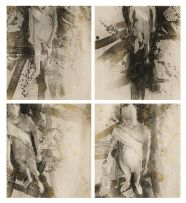 Louis Olivier; Abstract Composition with Figure, four