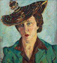 Irma Stern; Portrait of Freda Feldman in Basuto Hat