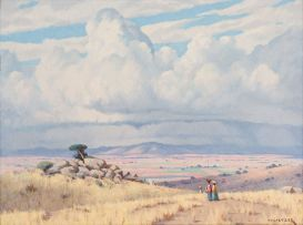 Willem Hermanus Coetzer; Approaching a Village