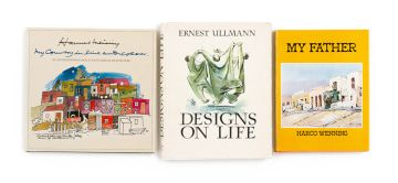 Ullman, Ernest; Wenning, Harco & Van Schaik, Louis (editor); Designs on Life; My Father & Hannes Meiring, My Country in Line and Colour. An unconventional Look at the South African Architecture