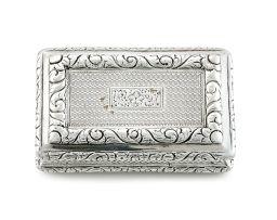 A George IV silver snuff box, Joseph Willmore, Birmingham, 1825