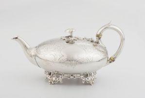 A Victorian silver teapot, Samuel Hayne & Dudley Cater, London, 1858