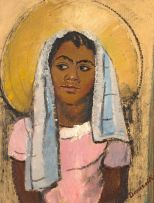Pranas Domsaitis; Portrait of a Girl
