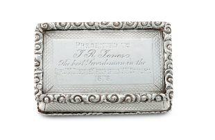 A Victorian silver snuff box, George Unite, Birmingham, 1878