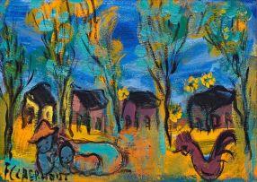Frans Claerhout; Village Scene