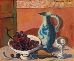 Maurice van Essche; Still Life with Grapes and Jug