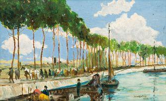 Walter Battiss; Trees Along the River