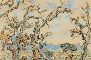 Gregoire Boonzaier; Blossoming Trees