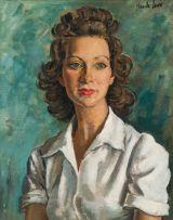 Alfred Neville Lewis; Portrait of Blanche Behrmann