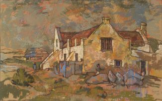 Gregoire Boonzaier; The Farmhouse on the Seafront, Paternoster