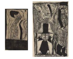 Jules van der Vijver; Portrait of Pierre Knoesen; V-D. + M.F. - HONORE 1.69, two