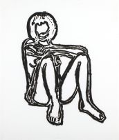 Tom Wesselmann; Monica Sitting Elbows and Knees, from the Brooklyn Academy of Music III series