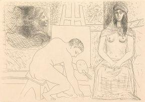 Pablo Picasso; Peintre ramassant son Pinceau, Le Chef-D'Oeuvre Inconnu series