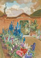 Alfred Palmer; Garden with Lavenders