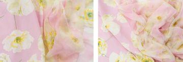 Valentino Combination of two pale pink Valentino fabrics