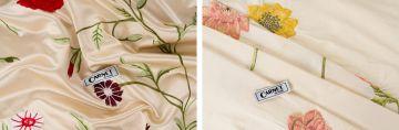 Carnet/ Carnet Combination of two silks.