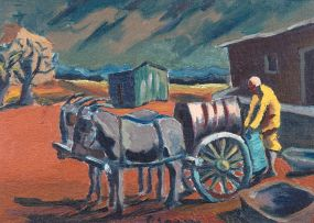 Gerard Sekoto; The Donkey Water Carrier