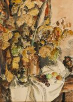 Maud Sumner; Table Arrangement with Flowers and Fruit