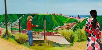 Marianne Podlashuc; Woman and Boy overlooking Port Elizabeth