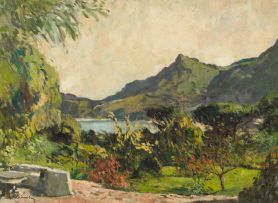 Robert Broadley; Landscape with Lake and Mountains beyond