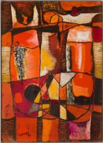 Lucky Sibiya; Abstract Composition with Figures
