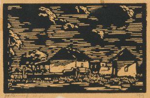 Jacob Hendrik Pierneef; Bewolkte Lug (Maanlig) (Nilant 53)