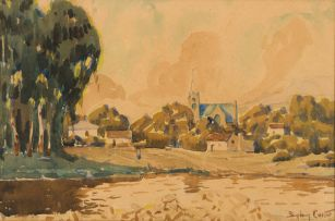 Sydney Carter; Village with Church