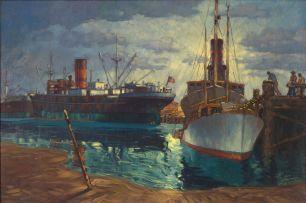Nils Andersen; Cargo Ships in Durban Harbour
