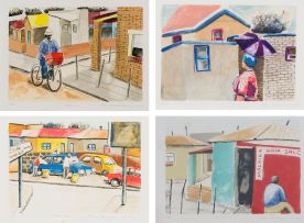 Sam Nhlengethwa; Township series, four