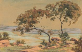Erich Mayer; Landscape and Tree