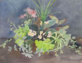 Maud Sumner; Still Life of Flowers and Leaves