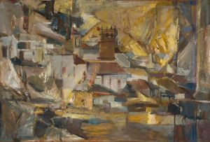 Sidney Goldblatt; Landscape with Church