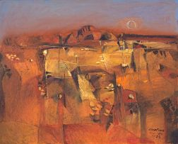 Nico Roos; Red Landscape, Khomas Hochland